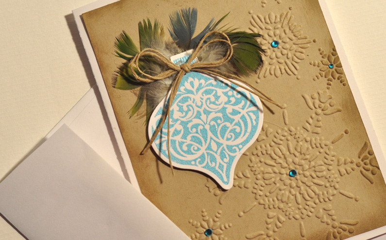 PRC Feather Holiday Greeting Cards